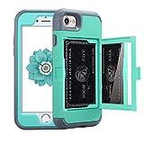 iPhone 7 Case, NOKEA Mirror Wallet Case Card Slot Hidden