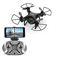 LITEBEE Mini Pocket Drone with Camera, WIFI FPV Drone Mini RC Quaccopter with 720P Camera, voice control, One Key Return, Easy To Fly RC Helicopter for Beginners Kids