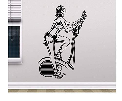 Zxfcczxf Adesivo Da Parete Scolpito Tapis Roulant Creativo Da Palestra Da Donna 57X85Cm