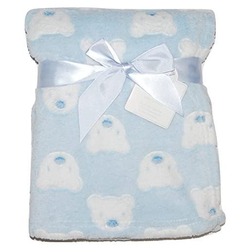 Baby-Boy-Girl-Unisex-Soft-Fleece-Wrap-Blanket-Pram-Cot-Crib-Moses-Basket-Teddy