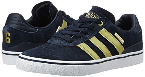 Herren Skateschuh adidas Skateboarding Busenitz Vulc ADV 10 YR Anni Skateschuhe Collegiate Navy/Gold Met./Ftwr White