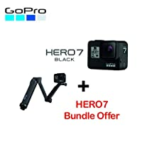 GoPro Hero7 Black with 3-way tripod bundle Kit Black