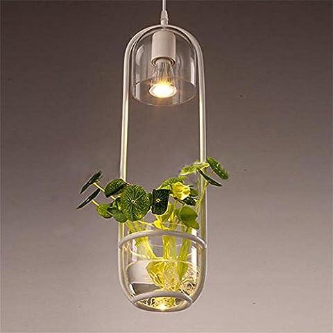 GBT Pastoral Style Restaurant Cafe de chevet en verre Plante Lustre? Lampes LED, lumière chaude, éclairage Blanc, lustres, Lampes de lumières d'intérieur, extérieur, Lampes de mur?