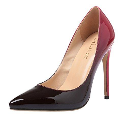 Calaier Ladies Caelse 12cm Stiletto Slip On Pumps Scarpe Multicolore