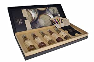 Whisky Tasting Set - 5 x 30ml The Arran Distillery Collection in Presentation Box & Glencairn Tasting Glass with Tasting Notes and Tasting Session Card