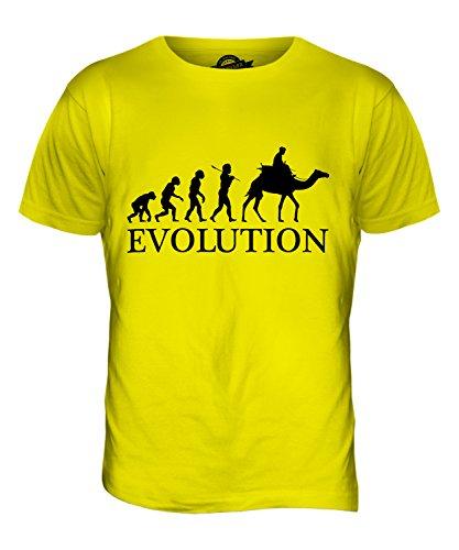 CandyMix Kamelrennen Kamelreiten Evolution Des Menschen Herren T Shirt Zitronengelb