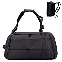 Abester Sports Gym Bag with Shoes Compartment men womenTravel Duffel bag 40L (Black)