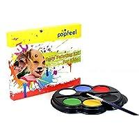 REGOU 6 Colors Face Paint Palette Body Paints Kits Kids Hypoallergenic Make Up Palette-Safe Non-Toxic Face Painting