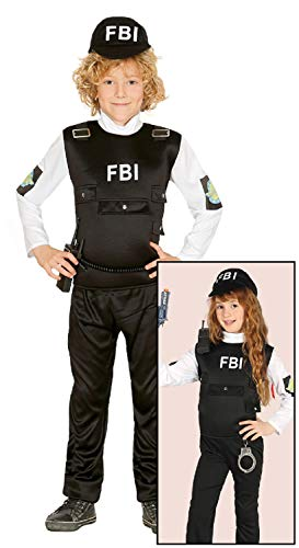 Cop Kostüm Boy - Childrens Boys Girls FBI Agent Special