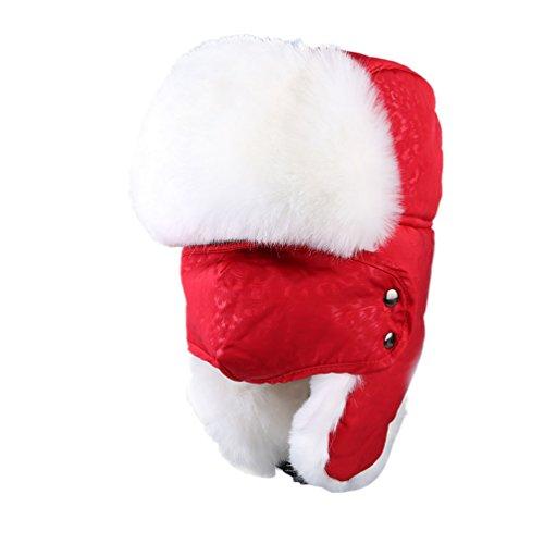 Women Nylon Russian Style Winter Ear Flap Hat