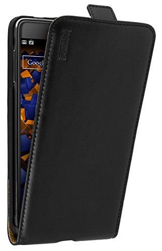 mumbi PREMIUM Leder Flip Case für Samsung Galaxy Note 4 Tasche (Galaxy 4 Sd-karten Für Note)