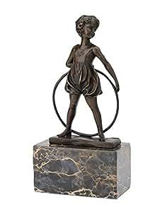 Statuette de jeune gymnaste - d'après Ferdinand Preiss - style antique/art déco - bronze