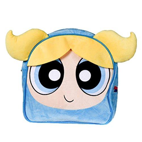 Offizielle Kinder Die Powerpuff Mädchen Bubbles Kopf Soft Plüsch Schule Rucksack