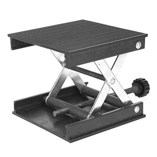 Hebebühne, 90 x 90 mm Kunststoffplatte & Metallhalterung Hebebühnenständer Rack Lift Kit Ziemlich stabil für Niveau/Labor