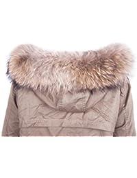 De Dancel Mujer mant¨®n de la piel de la bufanda de cuello del abrigo de invierno o bordes con capucha