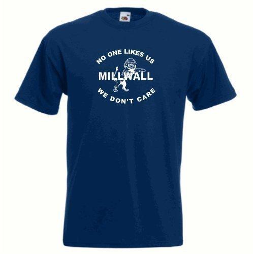 T-Shirt FC Millwall Nobody Likes Us Dundee Blau Marineblau Fußball T-Shirt Alle Größen Erhältlich S-XXXXXL - 100% Baumwolle/Jersey, M (Us-fußball-t-shirts)