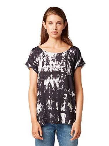 TOM TAILOR Denim Blusen, Shirts & Hemden Shirt-Bluse mit Batik-Muster Black White Batik, S -