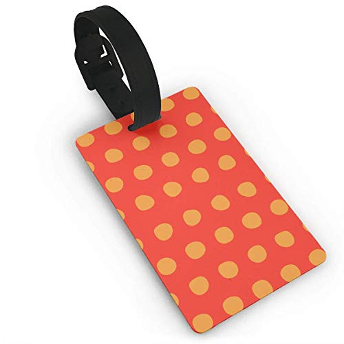 CHSUNHEY Kofferanhänger,Red Saffron Petite Luggage Tags with Print for Suitcases,Flexible PVC Travel ID Sturdy Identification,Travel Accessories Suitcase Tags Apply3.7X2.2in Petite Print Wrap