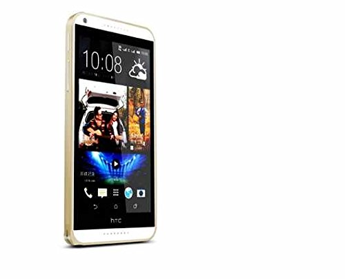 eShop24x7 Slim 0.7mm Aluminium Metal Bumper Frame Case Cover with Hook Lock for HTC Desire 816 Champagne Gold