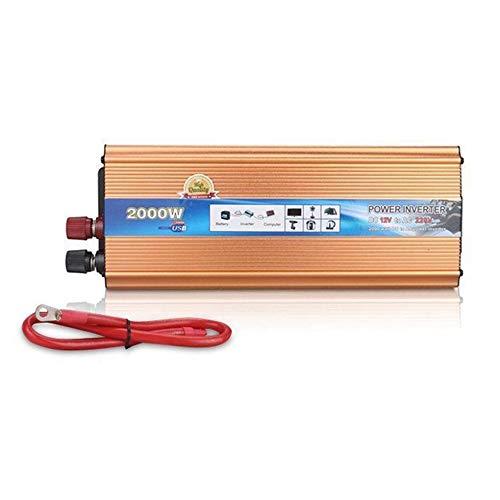 Sen-Sen 4000W Peak Modified Sinus Wechselrichter DC 12V Konverter mit USB-Anschluss Golden 12V bis 220V - Go Electric Power Inverter
