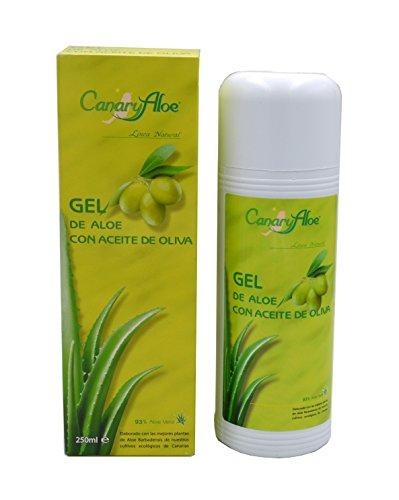 Canaryaloe gel puro de Aloe Vera con Aceite de Oliva (250ml)