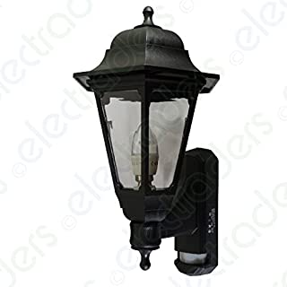 ASD CL/BK100P LED Coach Lantern with PIR Sensor (Black) Polycarbonate