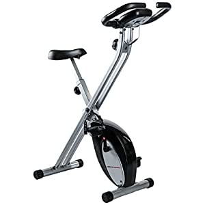 Ultrasport F-Bike, Cyclette da Allenamento Home Trainer, Bici da Fitness Pieghevole con Computer di Allenamento e Sensori delle Pulsazioni, Peso Massimo Utente 100 kg, Nero