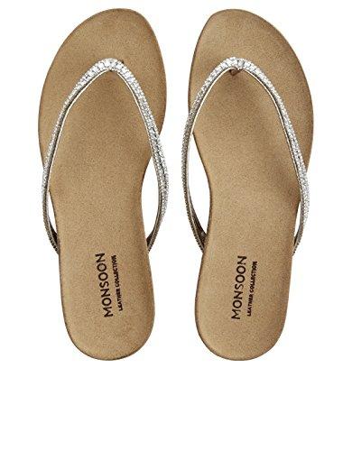 Monsoon Bluebell Sandalen mit Fußbett Gold