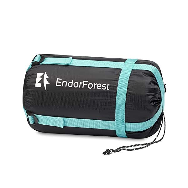 Endor Forest Sleeping Bag for Adults and Kids - Made With Ripstop Polyester, Single Envelope 3 Season Sleeping Bag for Camping - Lightweight, Compact and Water Resistant for a Comfortable Warm Sleep 9