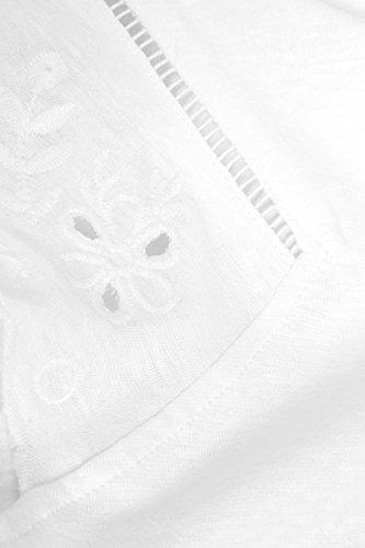 next Donna Maglietta con Maniche Ricamate - Petite Bianco