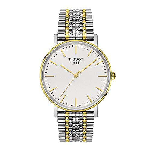 Tissot Herren Analog Quarz Everytime Medium Armbanduhr mit Edelstahl Armband T1094102203100