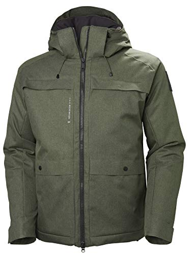 Helly Hansen Men's Chill Hooded Waterproof Helly Tech Breathable Insulated Parka Coat, 482 Beluga, Small