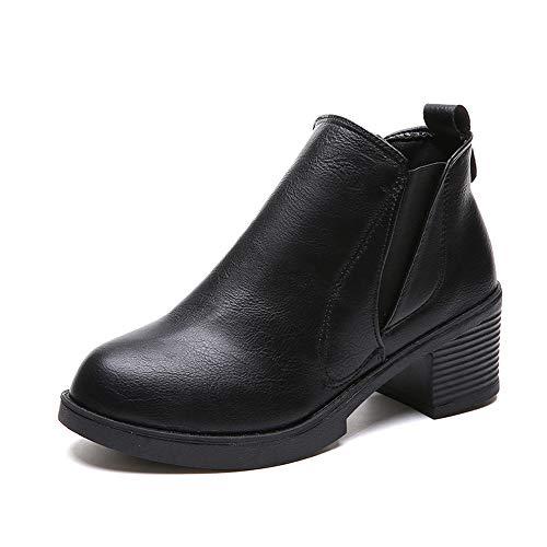 VECDY Damen Stiefeletten,Schuhe Stiefel Booties Frauen Winter Stiefeletten Low Heels Mode Stiefel Herbst Winter Stiefel Schuhe