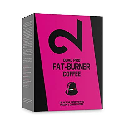 DUAL Pro FAT BURNER COFFEE | Fitness Coffee | Fat Burner Coffee | Delicious taste and aroma with 16 ingredients | Power, Focus and Performance Boosting | 10 Uniqely Powerful Nespresso Compatible Capsules | Vegan & Natural from Dual GmbH