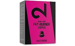 DUAL Pro Fat-Burner Coffee|Café Quemagrasa 100% Natural Sin Aditivos Para Pérdida de Peso|Adelgazante Para Hombres y Mujeres |10 Cápsulas Veganas Compatibles Con Nespresso|Certificado|Hecho en la UE