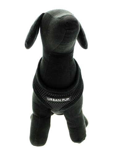 "UrbanPup Jet Black Soft Harness (X-Small - Dog Chest Circumference: 10"" / 25cm) 6"