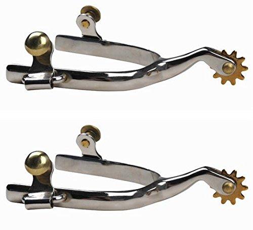 Western HKM espuelas con ruedas - pequeño - de acero inoxidable caballeros plata