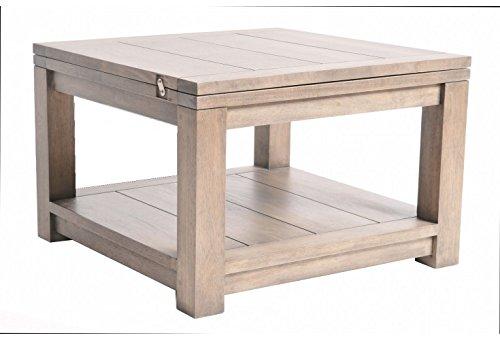 Table basse extensible en hévéa