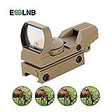 ESSLNB Mirino Softair con 4 Reticoli e 20/22mm Weaver Picatinny Montaggio su Guida Antiurto Impermeabile con 5 Regolabile Luminosità