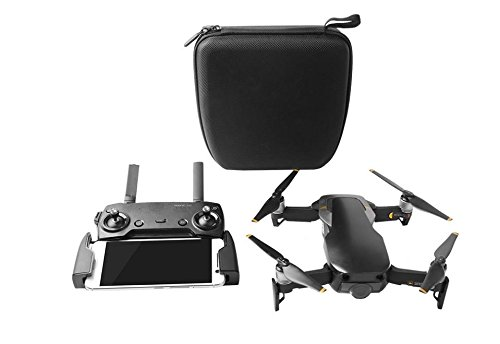 Ocamo Portable Handled RC Drone Storage Bag Protective Organizing Suitcase Box Satchel for DJI Mavic Air Mini (Black)