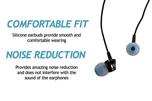 XCESSOR (S) 7 Paar (14 Stück) Silikon-Ersatz-Ohrhörer Klein Größe Ersatz-Ohrstöpsel für Beliebte in-Ear-Kopfhörer. Weiß/Blau - 3