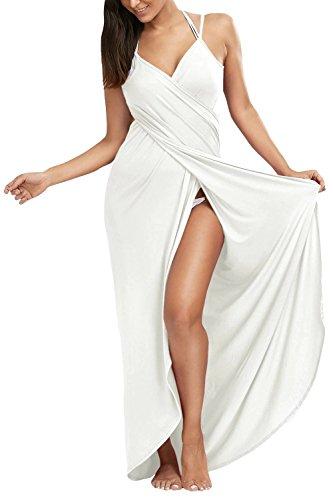 etti Strap Bikini Vertuschen Rückenfreies Strand Wrap Langes Kleid (Plus Größen Fancy Kleid)