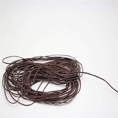 HYZKJ Seil 4 Farben Wahl 10 Meter 1 Mm Gewachste Lederfaden Wachs Baumwollkordel String Strap Halskette Seil Perle Für Shamballa Armband,Braun