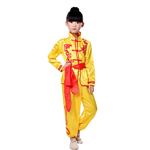 ZooBoo Kids' Unisex Kung Fu Suit Uniforms Martial Art Tai Chi Clothing Morning Exercise Suits
