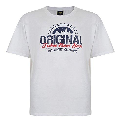 FUBU Herren T-Shirt Weiß Weiß