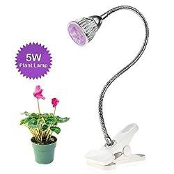 Pflanzenlampe oobest pflanzenleuchte 5W 9W LED Glühbirne Anlage wachsen Licht für Zimmerpflanzen Blume und Gemüse 5W (5W)