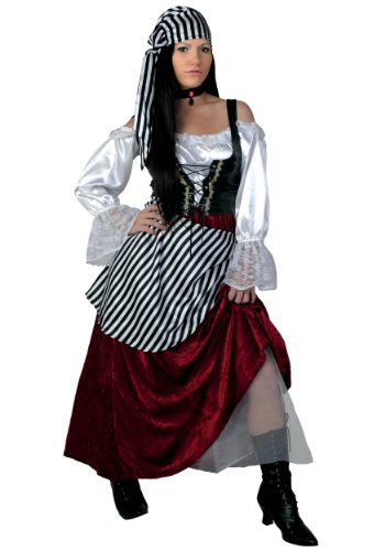 (Plus Size Deluxe Pirate Wench Fancy dress costume 6X)
