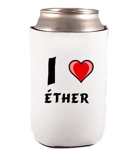 Couverture de bouteilles personnalisée en néoprène avec J'aime - Éther inscription (Noms/Prénoms)