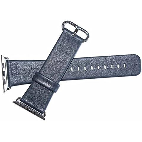 Apple Watch Band, Foval cinturino in pelle da polso banda con adattatore chiusura in metallo per Apple Watch 42mm
