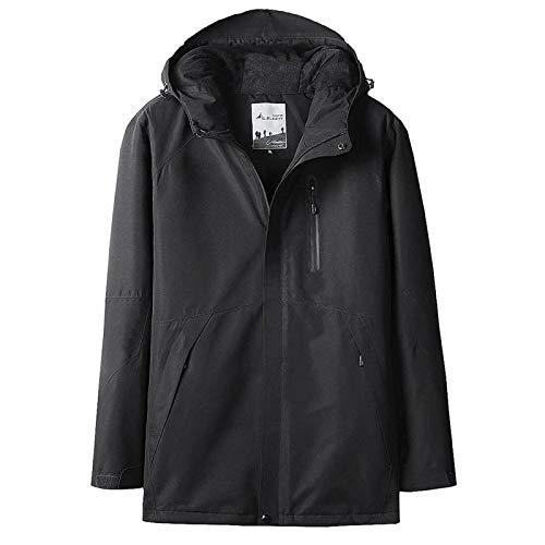 GITVIENAR Herren Beheizte Outdoor Jacke, 5V sichere Spannung Beheizbar Winterjacke mit USB-Anschluss 3 Temperatureinstellung Modi Ultra Wasserdicht Atmungsaktiv Funktionsjacke Schnelle Erwärmung